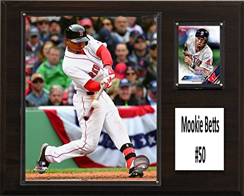 C&I Collectables MLB Boston Red Sox Mookie Betts Player Plaque, Brown, 12