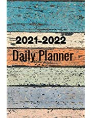 2021-2022 Daily Planner: Daily Planner To Do List Fitness,Breakfast,Lunch,Dinner,Snack,Mood& ... Color Wood (2021 Planner Weekly and Monthly)