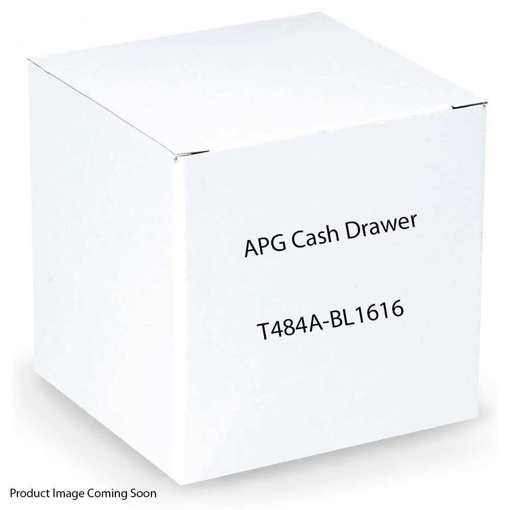 APG T484A-BL1616 100 Series Heavy Duty Cash Drawer SerialPRO II Fixed 5X5 Till Adjustable Dual Media Slots Cable Included Black 16.15 Width x 18.75 Depth x 5.42 Height