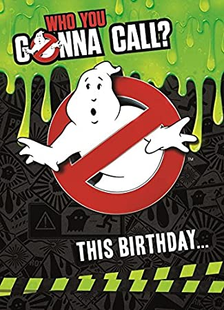 Ghostbusters Sound Birthday Card Amazon Office Products