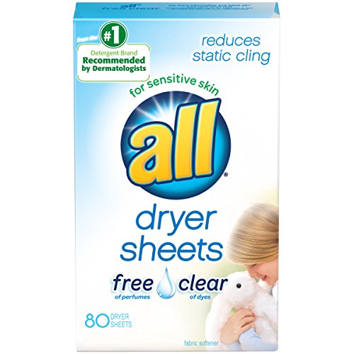 all Fabric Softener Dryer Sheets for Sensitive Skin, Free Cl