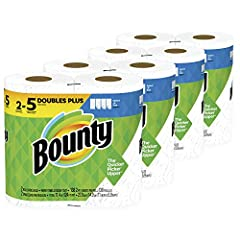 Don't let spills and messes get in your way. Lock in confidence with Bounty, the Quicker Picker Upper. This pack contains Bounty white Select-A-Size paper towels that are 2X more absorbent and strong when wet, so you can get the job done quic...