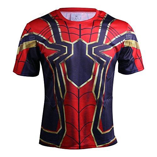 Avengers: Infinity War Iron Spider-Man T-Shirt Cosplay Costume