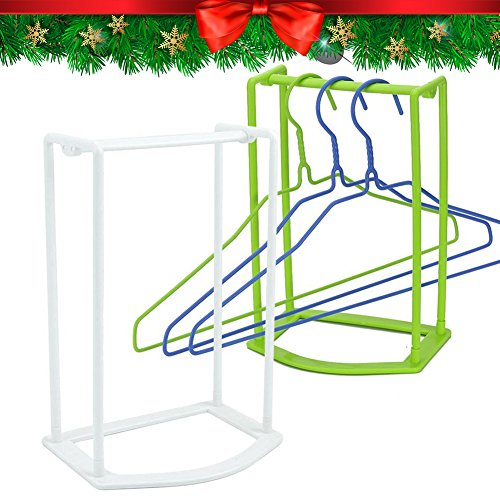 Jardin Coat (Standing Clothes Hanger Stacker Holder Drying Rack Caddy 2 pcs Premium Grade PP Tidier Laundry Room Closet Organizer Large Capacity Hold Up to 30 Plastic Material with Manual for Installation)