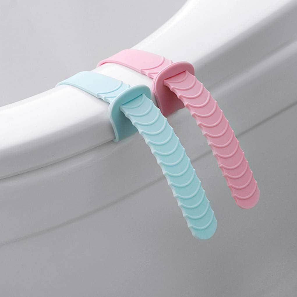 PRENKIN 2 Piezas de Color al Azar port/átil de Silicona Sit maniobras de izado Evita Dispositivos levantadores Tocar WC Manipular Accesorios de ba/ño