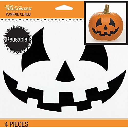 Jolee's Boutique 50-40561 Jolee's Jack-o-Lantern Face Pumpkin Clings 4/pkg