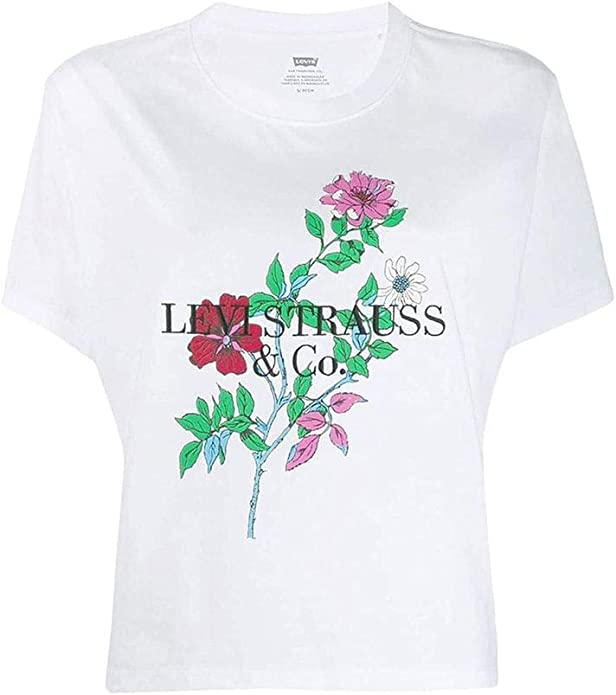 Camiseta Levis 90s Blanco Mujer