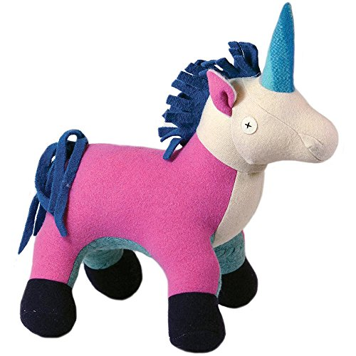 Cate and Levi 22 Handmade Unicorn Stuffed Animal (Premium Reclaimed Wool), Colors Will Vary