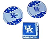 University of Kentucky Wildcats Party Bundle 9'' Plates (16) Lunch Napkins (20)