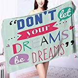 11a54debc7 Auraise Home Luxury Bath Sheet The Sky is the Limit quot Typography  Motivatial Quote ra Use