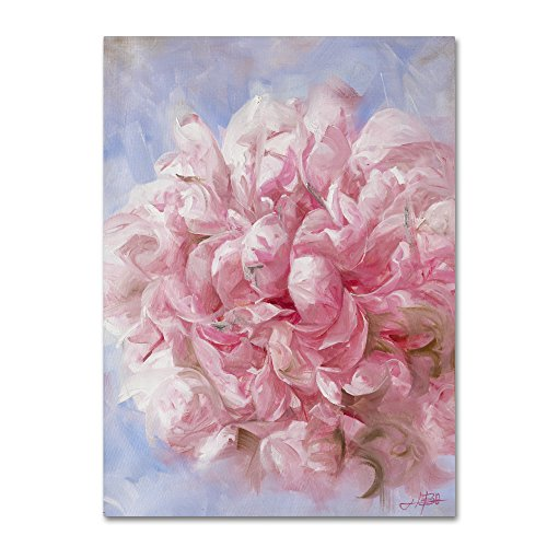 Trademark Fine Art Pink Peonie I Wall Decor by Li Bo, 24