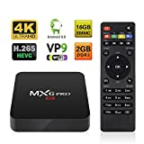 Android TV BOX 2GB/16GB 4K Improved Version MXG Pro Android 6.0 S905X Quad Core