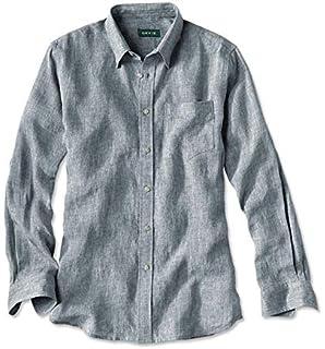 2337df3c1e Orvis Short-Sleeved Pure Linen Shirt  Amazon.co.uk  Clothing