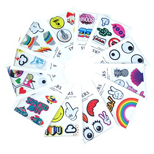 Decoration Patches PU Leather Sticker Bag Phone Jacket Shoe Decoration DIY Stick On Patch 3D Sticker Pack of 15