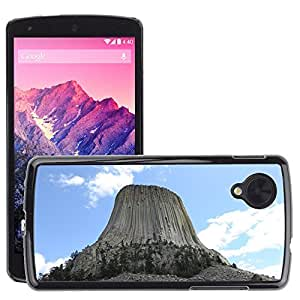 Hot Style Cell Phone PC Hard Case Cover // M00170746 Devils Tower Monument Wyoming Rock // LG Nexus 5