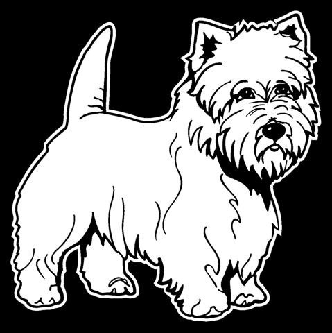 Cairn Terrier Decal Sticker - Peel and Stick Sticker Graphic - - Auto, Wall, Laptop, Cell, Truck Sticker for Windows, Cars, Trucks