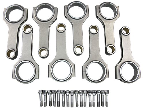 "H-Beam Connecting Rods + Bolts For Ford 5.4L Engine 6.658"" Rod Length 8PCS"