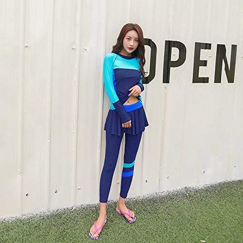 Unique Yards Bain Avec Big Bleu Jupe La Étudiants Montré Mode Taille coloré Longues Zhrui Le Montré Sexy Comme Split 2xl Augmenté Manches Maillot De XwEaa8nBq
