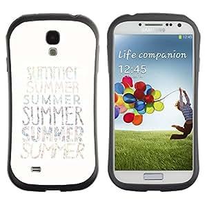 Suave TPU GEL Carcasa Funda Silicona Blando Estuche Caso de protección (para) Samsung Galaxy S4 I9500 / CECELL Phone case / / Summer Text Minimalist White Sun Surf /