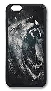 iPhone 6 Cases, Roaring Lion Durable Soft Slim TPU Case Cover for iPhone 6 4.7 inch Screen (Does NOT fit iPhone 5c 5c 5cC 4 5c or iPhone 6 Plus 5c.5c inch screen) - TPU Black
