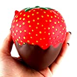 Squishies Jumbo Slow Rising Clearance for Kids! Lovely Squishy Spun Sugar Scented Squishy Slow Rising Squeeze Collection Toys Kawaii 11.5cm Strawberry Fun Stress Toys for Kids and Adults (AS Show #A)
