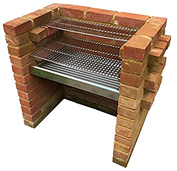 SunshineBBQs - Kit de barbacoa de ladrillo de acero inoxidable (67 cm x 40 cm