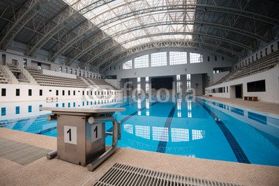 adrium No. 1 in an Empty Swimming Pool Starting Block ...