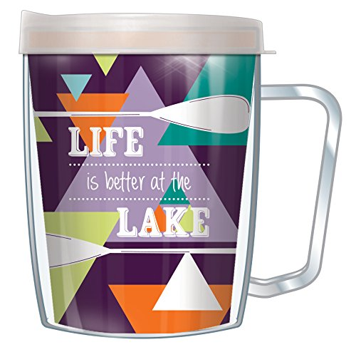 Life Is Better At The Lake Wrap 18 Oz Monday Coffee Tumbler - Lake Mug