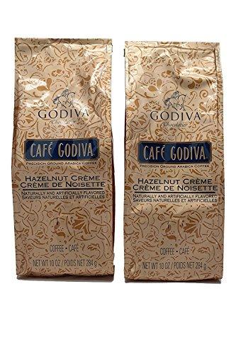2 Bags Godiva Coffee HAZELNUT CREME COFFEE New 10 oz each