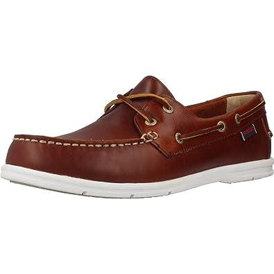 Sebago Men'S Men'S Litesides Two Eye Brow Oiled Waxl Shoes In Size 43.5 E (W) Brown 5buK7c