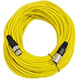 SEISMIC AUDIO - SAXLX-100 - 100' Yellow XLR Male to XLR Female Microphone Cable - Balanced - 100 Foot Patch Cord