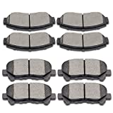 #1: SCITOO Ceramic Disc Brake Pads Set for Honda Odyssey 2011 2012 2013 2014
