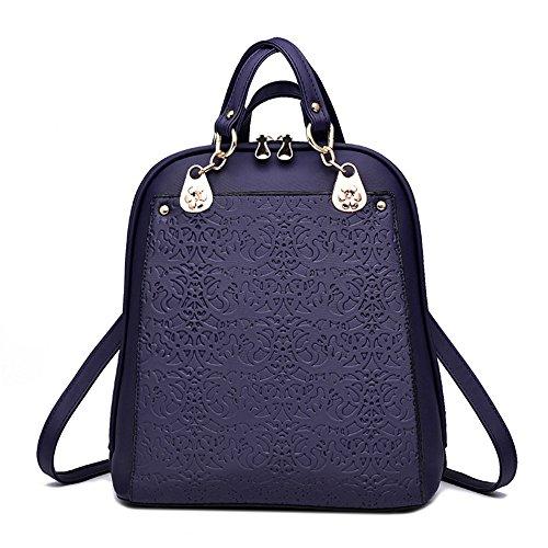 ANNE - Bolso mochila  para mujer gris gris Azul Real