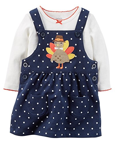 Carter's Baby Girls' 2 Piece Top And Jumper Set 12 Months (Baby Girl Thanksgiving Outfit)