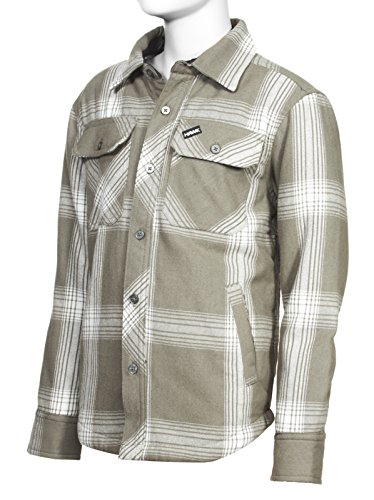 - Tony Hawk Boys Long Sleeve Plaid Button Down Flannel Shirt with Sherpa Lining Brown 18/20