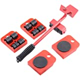 """Furniture Lifter and 4 pcs 3.9""""x3.15"""" Furniture Slides Kit, Furniture Move Roller Tools Max Up for 150KG/331LBS 360…"""