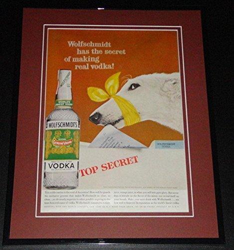 Wolfschmidt Vodka (1959 Wolfschmidt Vodka 11x14 Framed ORIGINAL Vintage Advertisement Poster)