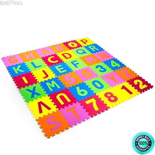 SKEMiDEX---New Puzzle Mat 36 blocks Learning ABC Alphabet Study Kids Letters Floor Play Toy And baby play mat walmart baby play mat amazon baby foam floor mat play mat foam best baby play mat baby by SKEMiDEX