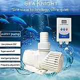 Sea Knight Submersible Water Pump 98W 2100GPH Aquarium Pump Portable Electric Utility Sump with Controller