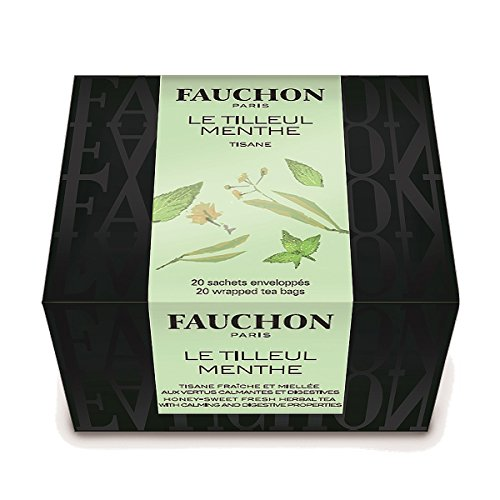 Lime Blossom Tea - FAUCHON TEA PARIS - Lime Blossom & Mint Herbal Tea - 20 Tea Bags