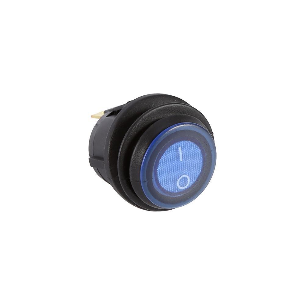 12V Led Rocker Switch Press Button ON//Off SPST Switch Round Rocker Switch