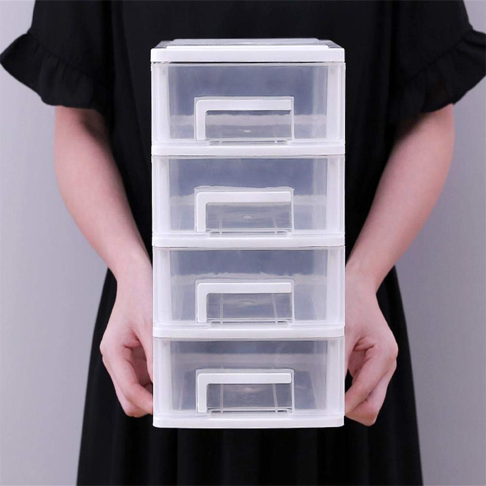 20 aucune Boîte de Stockage 2 Tiroirs Rangement et Organisation Transparent en Plastique Tour de Rangement Bureau en Argenté