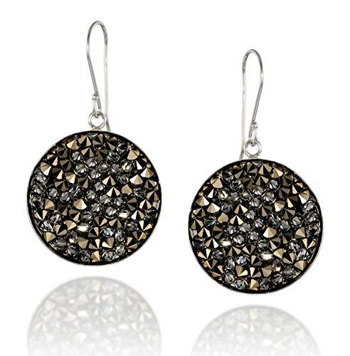 - Pavé Crystal Rock Cluster Earrings in 925 Sterling Silver Bezel Made with Original Swarovski Crystal