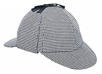 Amazon.com: Rubie's Sherlock Holmes Deerstalker Hat Black ...