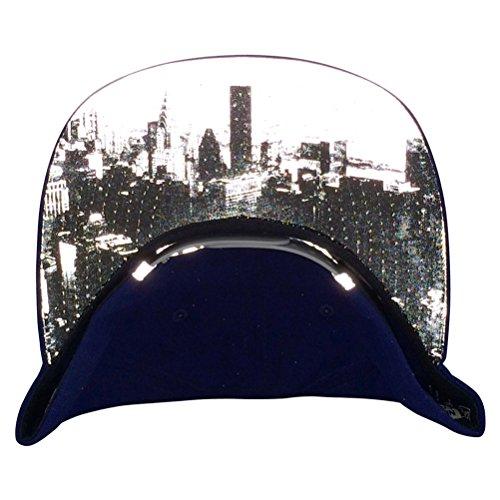 New Era Og Fits Brooklyn Dodgers Blue Skyline Underbill Reflective Snapback Hat Cap