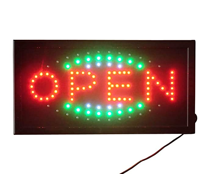 LETRERO CARTEL LUZ LUMINOSO LED - OPEN. IDEAL PARA ...