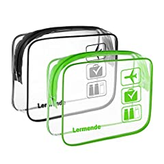 Do you travel often for work or leisure? Are you tired with the hassle of airport security delays?With our Lermende super-durable TSA Approved Clear Toiletry bag, make passing through security a pleasure, not a chore.Take it to the pool or be...