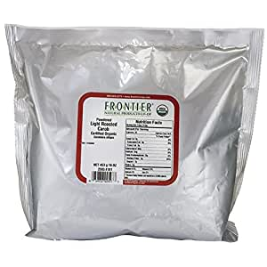 Frontier Natural Products Co-Op Organic Powdered Light Roasted Carob 16 oz (453 grams) Pkg