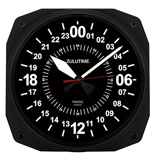- Trintec 24 Hour Square Military Time SWL Zulu Time 24Hr Wall Clock 10