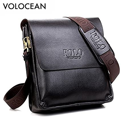10dd0c0a25a4 Buy Genric Brown 24x27x8cm   Casual Business Leather Mens Messenger Bag Hot  Sell Famous Brand Design Leather Men Bag Vintage Fashion Mens Cross Body Bag  ...